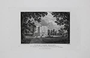 Antique Engraved Print Illustrating North East View of Bays-Hill Lodge Near Cheltenham, Published...
