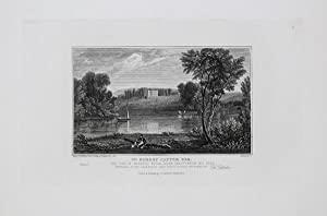 Antique Engraved Print Illustrating Marlhill House, Near Cheltenham, Published in 1826.