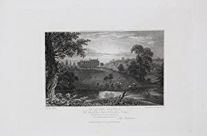 Antique Engraved Print Illustrating Charlton Kings (Cheltenham Park Hotel) , Published in 1826.