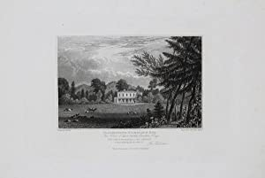Antique Engraved Print Illustrating the East Court, Charlton Kings in Gloucestershire, Published ...