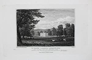 Antique Engraved Print Illustrating South West View of Sandywell Park in Gloucestershire, Publish...