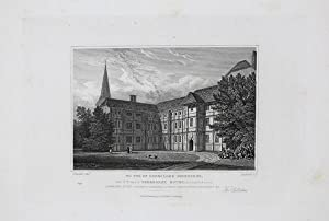 Antique Engraved Print Illustrating Sherborne House (South West View) in Gloucestershire, Publish...