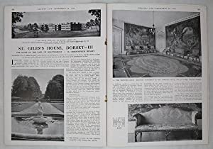 Original Issue of Country Life Magazine Dated September 24th 1943 with Main Feature on St. Giles'...