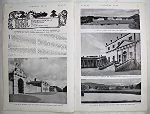 Original Issue of Country Life Magazine Dated January 23rd 1937 with a Main Feature on Russboroug...