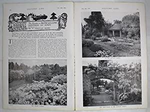 Original Issue of Country Life Magazine Dated February 29th 1936 with a Main Feature on The garde...