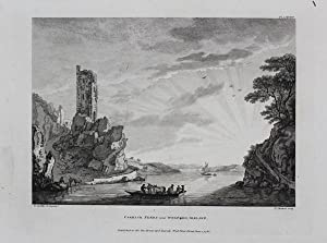 Original Antique Engraving Illustrating a View of 'Carrick Ferry Near Wexford, Ireland' By Paul S...