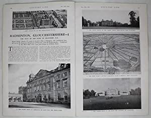 Original Issue of Country Life Magazine Dated Nov 25th 1939, with a Main Feature on Badminton Hou...
