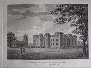 Original Antique Engraving Illustrating Enmore Castle in Somersetshire, the Seat of the Earl of ...