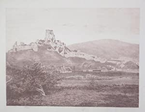 Original Antique Lithograph Illustrating Corfe Castle in Dorset. Published By J.Pouncy in 1857.: ...