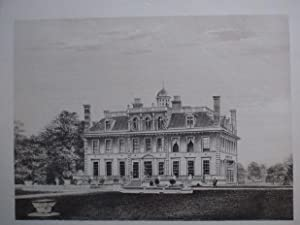 Original Antique Photo Lithograph Illustrating Kingston Lacy in Dorset. Published By J.Pouncy in ...