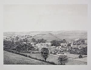 Original Antique Photo Lithograph Illustrating Winterbourne Steepleton in Dorset. Published By J....