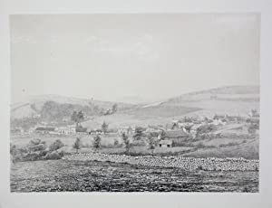 Original Antique Photo Lithograph Illustrating Upwey, Near Weymouth, in Dorset. Published By J.Po...