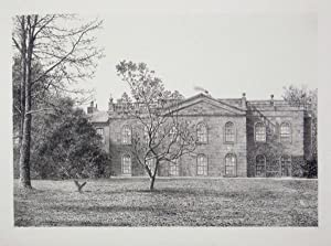 Original Antique Photo Lithograph Illustrating Leweston House, the Seat of Robert Gordon, Esq, in...