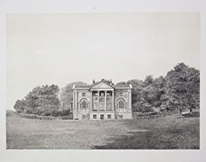 Original Antique Photo Lithograph Illustrating Bellfield House in Dorset. Published By J.Pouncy i...
