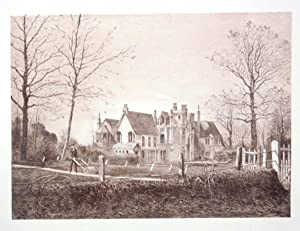 Original Antique Photo Lithograph Illustrating Studland Manor House in Dorset. Published By J.Pou...