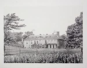 Original Antique Photo Lithograph Illustrating Dewlish House in Dorset. Published By J.Pouncy in ...