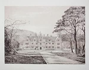 Original Antique Photo Lithograph Illustrating Creech Grange in Dorset. Published By J.Pouncy in ...