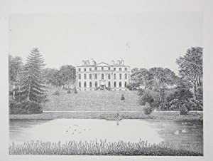 Original Antique Photo Lithograph Illustrating Kingston House, the Seat of James Fellowes,Esq, in...