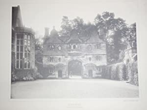 Two Original Photographic Illustrations of Stanway House in Gloucestershire. Published in 1891.