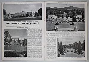 Original Issue of Country Life Magazine Dated December 13th 1946 with a Main Feature on Powerscou...
