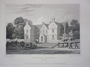 Original Antique Engraving Illustrating a View of Crotta House in Kerry, Ireland By J.P. Neale. P...