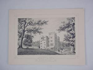 Fine Original Antique Lithograph Illustrating Gawthorpe Hall in Lancashire, The Seat of James Phi...