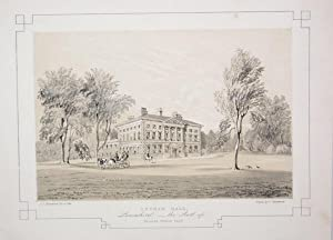 Fine Original Antique Lithograph Illustrating Lytham Hall in Lancashire, The Seat of Thomas Clift...
