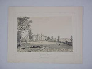 Fine Original Antique Lithograph Illustrating Melling Hall in Lancashire, The Seat of William Gil...