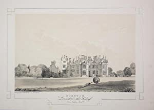 Fine Original Antique Lithograph Illustrating Moreton in Lancashire, The Seat of John Taylor, Esq.