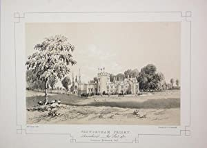 Fine Original Antique Lithograph Illustrating Penwortham Priory in Lancashire, The Seat of Lawren...