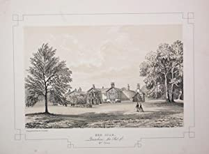 Fine Original Antique Lithograph Illustrating Red Scar in Lancashire, The Seat of Mrs Cross.