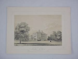 Fine Original Antique Lithograph Illustrating Standen Hall in Lancashire, The Seat of John Aspina...