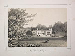 Fine Original Antique Lithograph Illustrating The Holme in Lancashire, The Seat of Thomas Hordern...