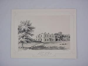 Fine Original Antique Lithograph Illustrating Witton House in Lancashire, The Seat of Joseph Feil...