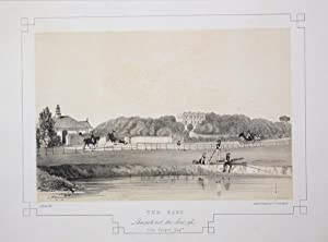 Fine Original Antique Lithograph Illustrating The Oaks in Lancashire, The Seat of John Cooper, Esq.