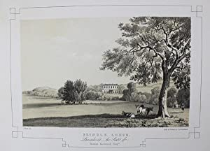 Fine Original Antique Lithograph Illustrating Brindle Lodge in Lancashire, The Seat of Thomas Eas...