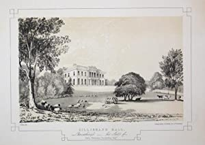 Fine Original Antique Lithograph Illustrating Gillibrand Hall in Lancashire, The Seat of Henry Ha...