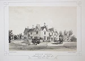 Fine Original Antique Lithograph Illustrating Howick House in Lancashire, The Seat of Thomas Norr...