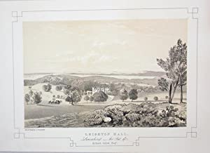 Fine Original Antique Lithograph Illustrating Leighton Hall in Lancashire, The Seat of Richard Gi...
