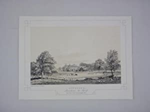 Fine Original Antique Lithograph Illustrating Aynesome in Lancashire, The Seat of The Rev Thos Re...
