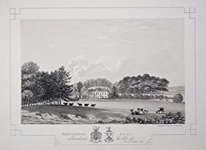 Fine Original Antique Lithograph Illustrating Wennington Hall in Lancashire, The Seat of W.A.F. S...