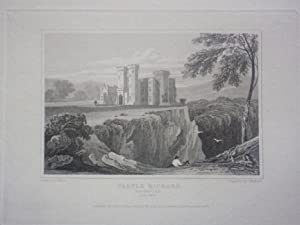 Original Single Engraving from Views of the Seats of Noblemen and Gentlemen in England Scotland a...