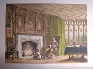 A Fine Original Hand Coloured Lithograph Illustration of Southam in Gloucestershire from The Mans...
