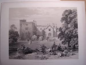 Fine Original Lithotint Illustration of Sizergh Hall, Westmoreland, By F. W. Hulme. Published By ...