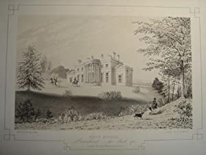 Fine Original Lithograph Illustration from the Mansions of England and Wales By Edward Twycross o...