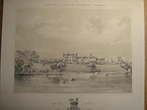 Fine Original Lithograph Illustration from the Mansions: Original Single Lithograph