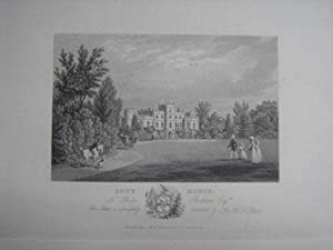An Original Antique Engraving Illustrating Cote House, Gloucesrshire. Published in 1825