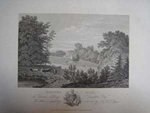 An Original Antique Engraving Illustrating Browns Hill in Gloucestershire. Published in 1825