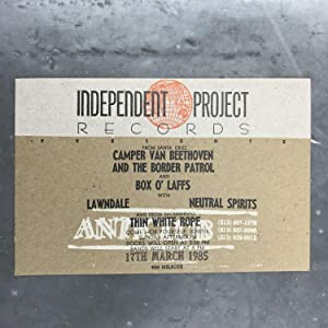Letterpress Postcard for a 1985 Show at Anticlub