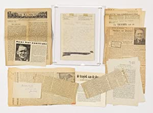 Letter from Prison to Marius Roland Holst, with Related Ephemera including an Issue of De Vrue Ku...